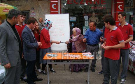 Of Anadolu Öğretmen Lisesi öğrencilerinden çevre duyarlılığı