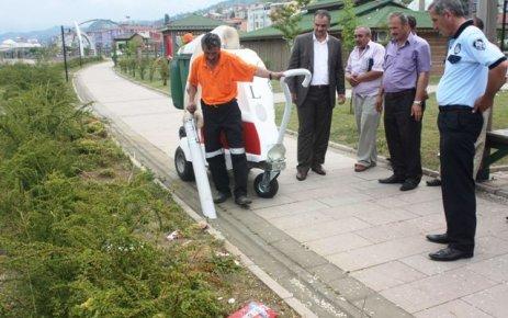 Of Belediyesi 3 adet fil çöp temizleme aracı aldı