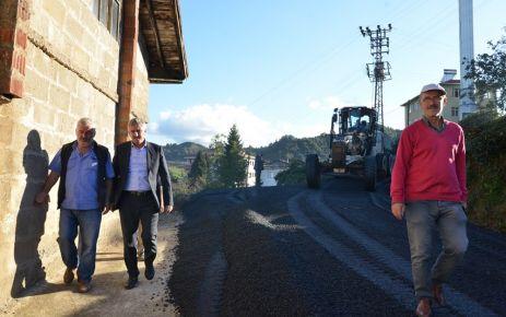 Of Belediyesi'nden Kıyıcık Mahallesine asfaltlama