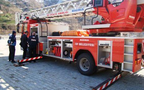 Of Belediyesi'ne 42 metrelik itfaiye aracı