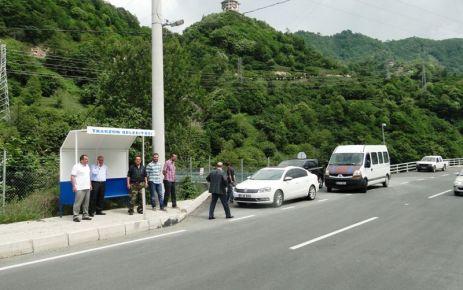 Of Çaykara Yolu'nun yolcu durakları yerleştişrildi