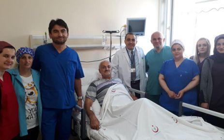 Of Devlet Hastanesi'nde mide tümörü ameliyatı