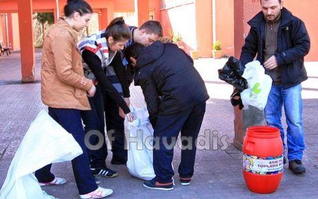 Of GAD'dan atık pil kampanyası
