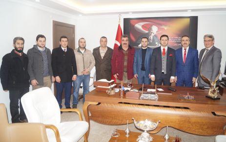 Of Medya Derneğinden Kaymakam Fırat'a Hoşgeldin Ziyareti