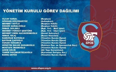 Ofspor'da yönetimin yarısı yenilendi