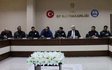 Of'ta 2. dönem okul güvenliği toplantısı yapıldı