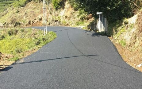 Of'ta 8 mahallede asfaltlama çalışması yapıldı