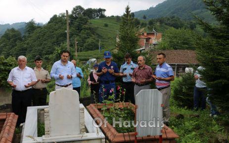 Of'ta şehit ve gazilere 15 Temmuz ziyareti