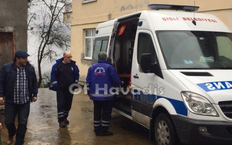 Of'tan ambulans bulunamadı Şişli Belediyesi ekip gönderdi