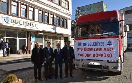 Of'tan Bayırbucak Türkmenlerine bir tır yardım