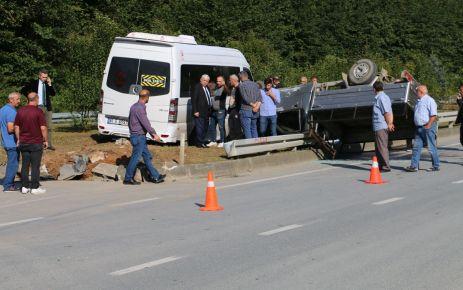 Öğrenciler kazayı ucuz atlattı