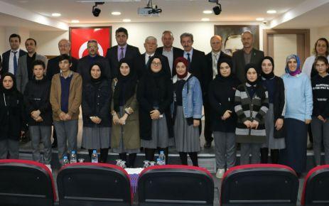 Prof. Dr. Fuat Sezgin Şehit Necmi Çakır A.Lisesi'nde anıldı