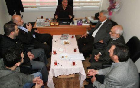 Saadet Partisi yönetiminden Of Medya Derneği'ne ziyaret