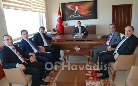 SGK Müdürlerinden Kaymakam Arslan'a ziyaret