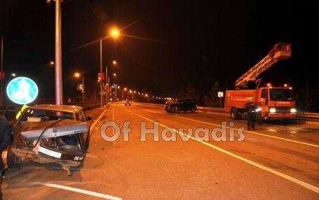 Soğukpınar'da Kavşağa kontrolsüz giriş kaza getirdi