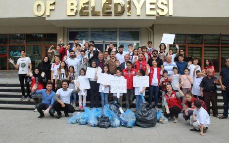 Sosyal Medyadan Sosyal Meydana projesi ile çevre temizliği
