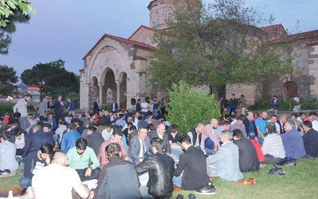 STK gönüllüleri Ayasofya'da İftar Sofrasında buluştu