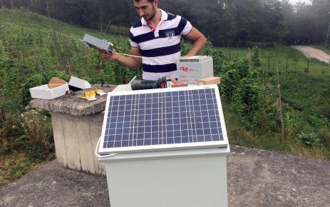 Su depolarına güneş enerjili otomatik klorlama cihazı