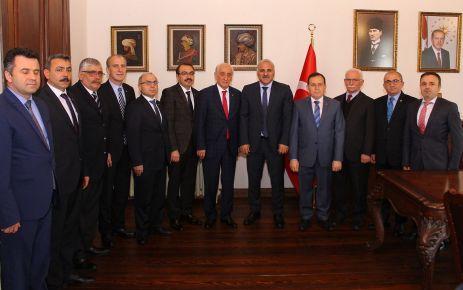Ticaret ve Sanayi Odası heyetinden Başkan Zorluoğlu'na ziyaret