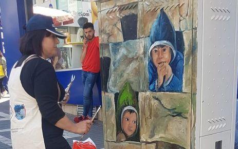 Trabzon sokakları sanatla güzelleşiyor