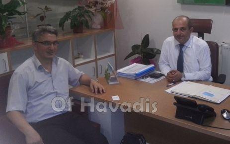 Yaşar'dan Müdür Erinmez'e ziyaret