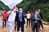 Başkan Zorluoğlu heyelan bölgesinde