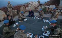 Bakan Soylu Namaz Dağı üs bölgesindeki askerlerle oruç açtı