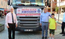 Oflu hayırseverlerin yardımları Sinop'a gönderildi