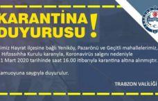 Koronavirüs Hayrat'ta can aldı 3 mahalle karantinada