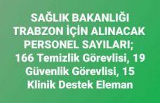 Sağlık Bakanlığı Trabzon'da 200 işçi alacak