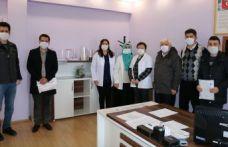 Sağlık Müdürlüğü ile Emniyete siperlik ve maske