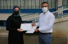 Of Mesleki Eğitim Merkezinin ilk diploma sevinci