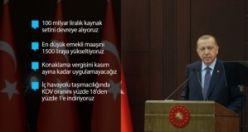 Cumhurbaşkanı Erdoğan Kovid-19'a 19 Ekonomik tedbir paketi