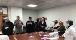Of Halk Eğitimi Merkezi maske üretiyor