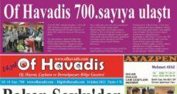 Of Havadis 700.sayısında