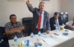 Haluk Pekşen Of'ta partililerle bayramlaştı