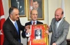 Başkan Saral'dan Bakan Bayraktar'a ortaokul resmi