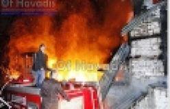 Tekoba'da 2 ev ve bir serender yandı