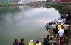Uzungöl'e düşen aracın sürücüsü boğuldu