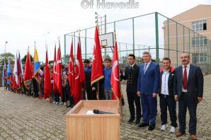 29 Ekim Cumhuriyet Bayramı Çelenk töreniyle başlad