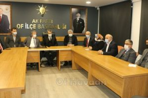 İl Başkanı Mumcu'dan AK Parti Of teşkilatına ziyaret