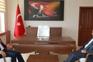 Vali Azizoğlu Kaymakam Arslan'ı ziyaret etti