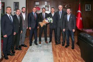 Arsin OSB'den Müdür Metin Alper'e Hoş geldin ziyar