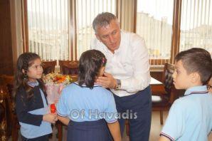 Ali Bulut İlkokulu öğrencilerinden Başkan Sarıalio