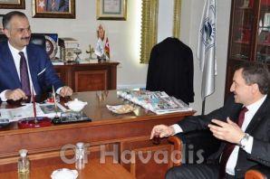 Atalay'dan Başkan Saral'a ziyaret