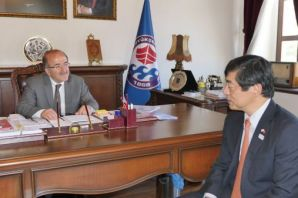Başkan Gümrükçüoğlu Büyükelçi Miyajima'yı ağırladı