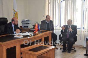 Gümrükçüoğlu Of'ta vatandaşlardan destek istedi