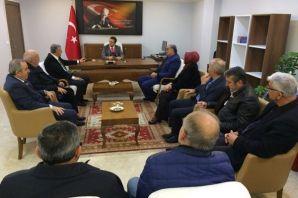 Başkan ve Meclis Üyelerinden Kaymakam Fırat'a ziya