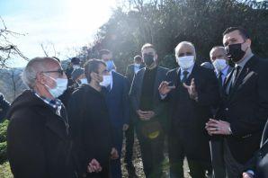 Başkan Zorluoğlu'ndan Sürmene'ye geçmiş olsun ziyareti