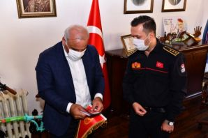 Başkan Zorluoğlu itfaiye personelini ağırladı
